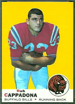 Bob Cappadona 1969 Topps football card