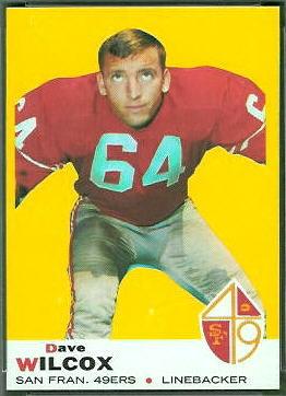 Dave Wilcox 1969 Topps football card