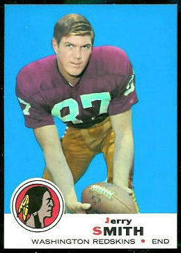 Jerry Smith 1969 Topps football card