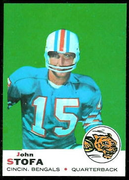 John Stofa 1969 Topps football card
