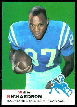 Willie Richardson 1969 Topps football card