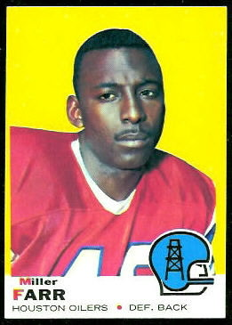 Miller Farr 1969 Topps football card