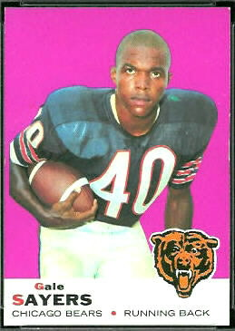 Gale Sayers 1969 Topps football card