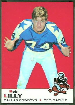 Bob Lilly 1969 Topps football card