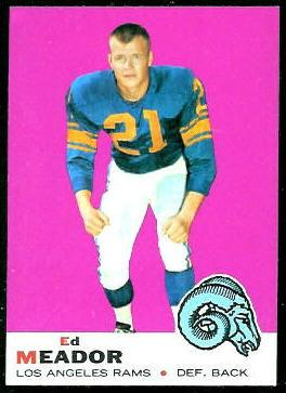 Ed Meador 1969 Topps football card