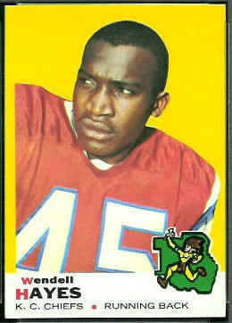 Wendell Hayes 1969 Topps football card