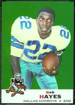 Bob Hayes 1969 Topps football card