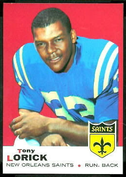 Tony Lorick 1969 Topps football card