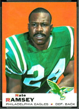 Nate Ramsey 1969 Topps football card