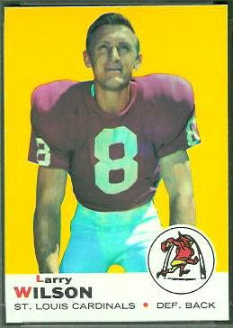 Larry Wilson 1969 Topps football card
