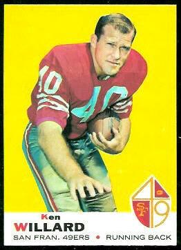 Ken Willard 1969 Topps football card
