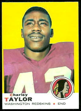 Charley Taylor 1969 Topps football card
