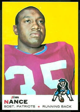 Jim Nance 1969 Topps football card