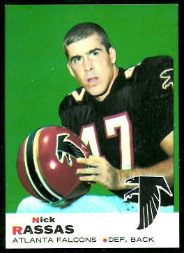 Nick Rassas 1969 Topps football card