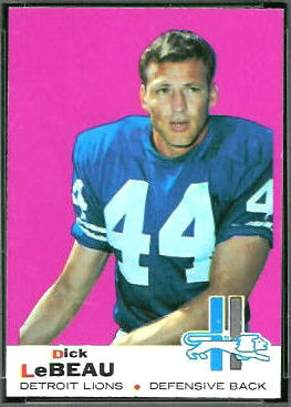 Dick LeBeau 1969 Topps football card