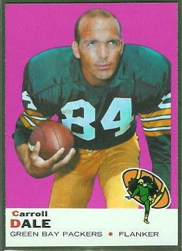 Carroll Dale 1969 Topps football card