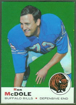 Ron McDole 1969 Topps football card