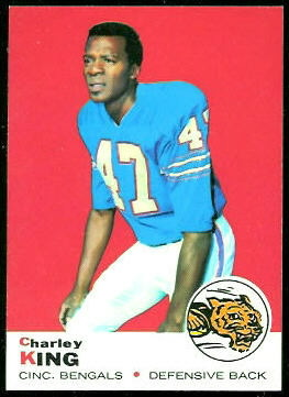 Charlie King 1969 Topps football card