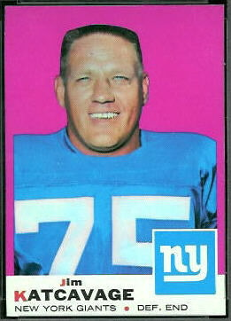 Jim Katcavage 1969 Topps football card