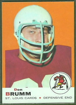 Don Brumm 1969 Topps football card