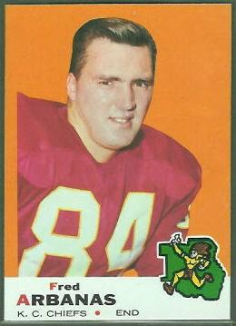 Fred Arbanas 1969 Topps football card