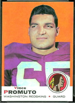 Vince Promuto 1969 Topps football card