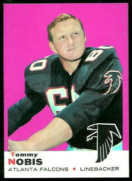 Tommy Nobis 1969 Topps football card