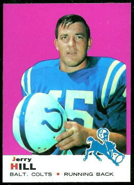 Jerry Hill 1969 Topps football card