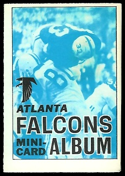 Atlanta Falcons 1969 Topps Mini-Card Albums football card