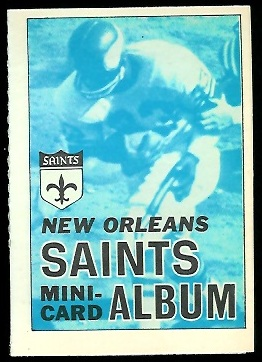 New Orleans Saints 1969 Topps Mini-Card Albums football card