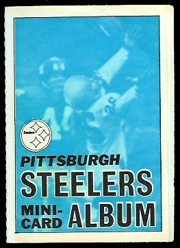 Pittsburgh Steelers 1969 Topps Mini-Card Albums football card