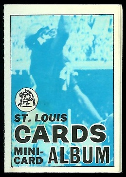 St. Louis Cardinals 1969 Topps Mini-Card Albums football card