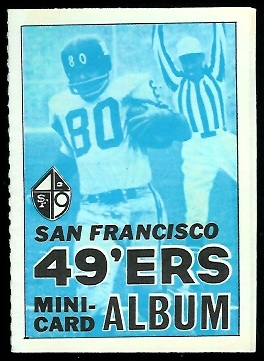 San Francisco 49ers 1969 Topps Mini-Card Albums football card