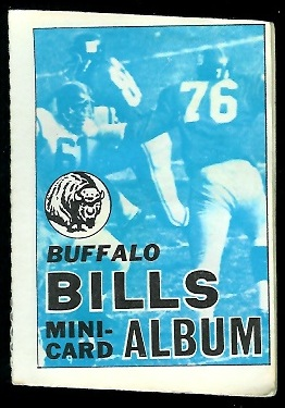 Buffalo Bills 1969 Topps Mini-Card Albums football card