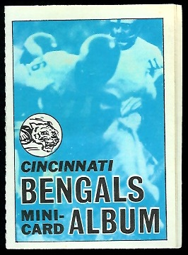 Cincinnati Bengals 1969 Topps Mini-Card Albums football card