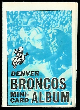 Denver Broncos 1969 Topps Mini-Card Albums football card