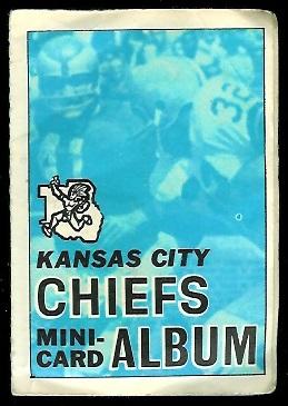 Kansas City Chiefs 1969 Topps Mini-Card Albums football card