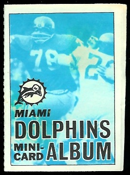 Miami Dolphins 1969 Topps Mini-Card Albums football card