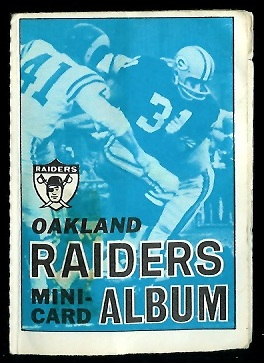 Oakland Raiders 1969 Topps Mini-Card Albums football card