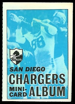 San Diego Chargers 1969 Topps Mini-Card Albums football card