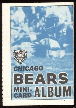 Chicago Bears 1969 Topps Mini-Card Albums football card