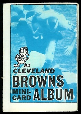 Cleveland Browns 1969 Topps Mini-Card Albums football card