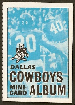 Dallas Cowboys 1969 Topps Mini-Card Albums football card