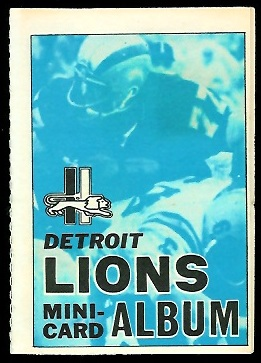 Detroit Lions 1969 Topps Mini-Card Albums football card
