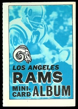 Los Angeles Rams 1969 Topps Mini-Card Albums football card