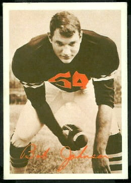 Bob Johnson 1969 Tresler Comet Bengals football card