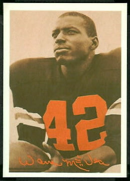 Warren McVea 1969 Tresler Comet Bengals football card