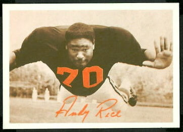 Andy Rice 1969 Tresler Comet Bengals football card