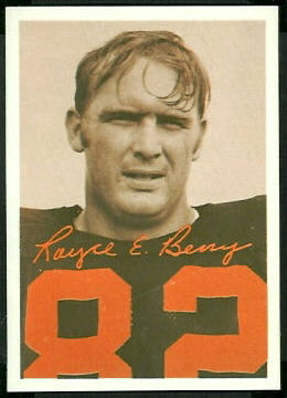 Royce Berry 1969 Tresler Comet Bengals football card