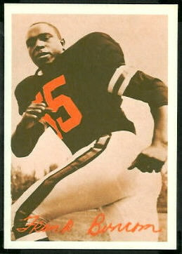 Frank Buncom 1969 Tresler Comet Bengals football card